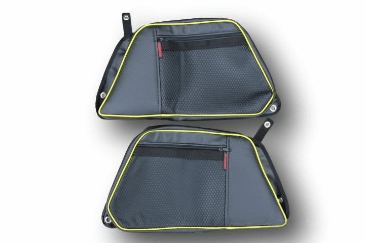 2015-2020 4-Door RZR 900/S4/XP1000/Turbo REAR Door Bags - Lime Squeeze