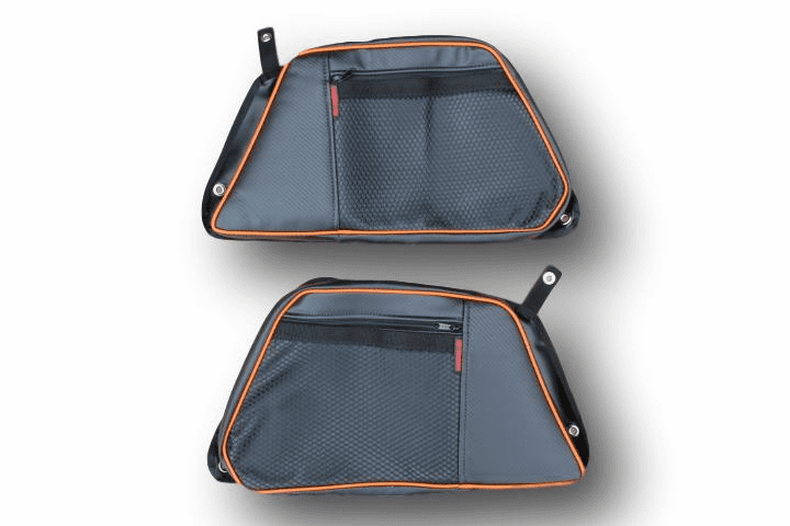 2015-2021 4-Door RZR 900/S4/XP1000/Turbo REAR Door Bags - Orange *CLEARANCE SALE!*