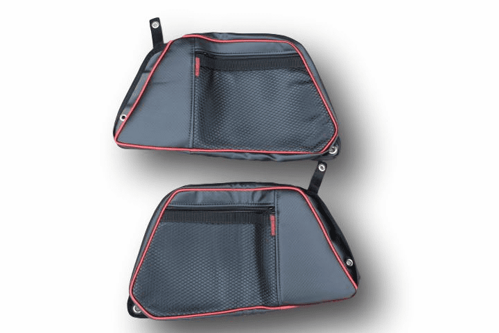 2015-2020 4-Door RZR 900/S4/XP1000/Turbo REAR Door Bags - Red