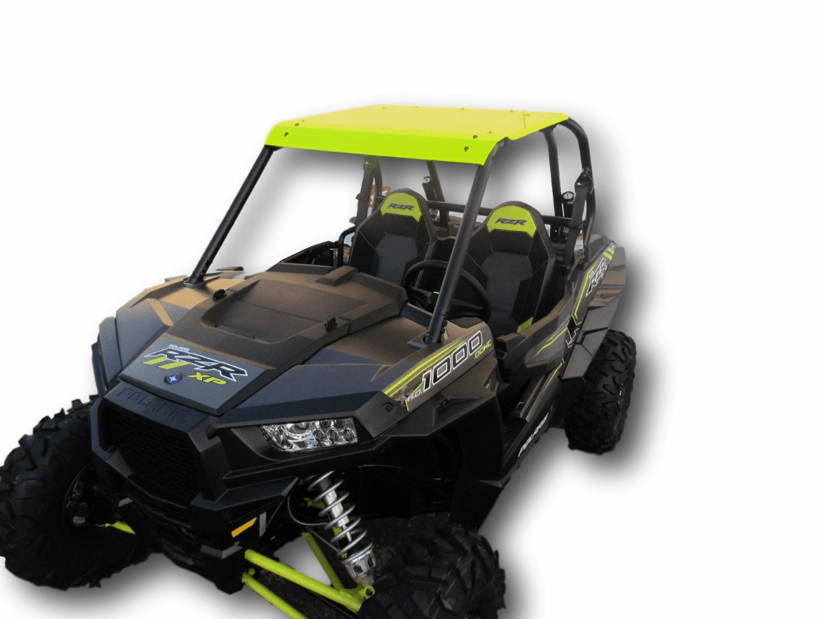 2015-2020 RZR 900 & XP1000 Front Visor Aluminum Roof - Lime Squeeze *SOLD OUT*