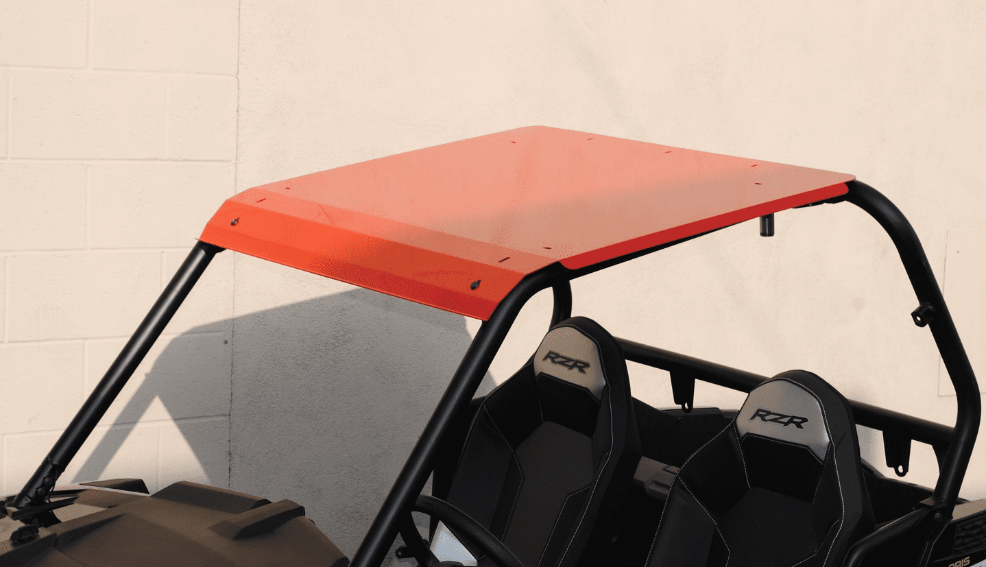 2015-2020 RZR 900 & XP1000 Front Visor Aluminum Roof - Red *SOLD OUT*
