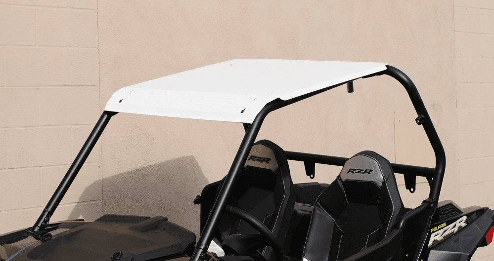 2015-2020 RZR 900 & XP1000 Front Visor Aluminum Roof - White *SOLD OUT*