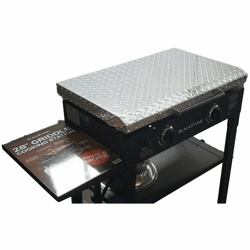28 Inch Blackstone Griddle Cover Lid - Diamond Plate Aluminum