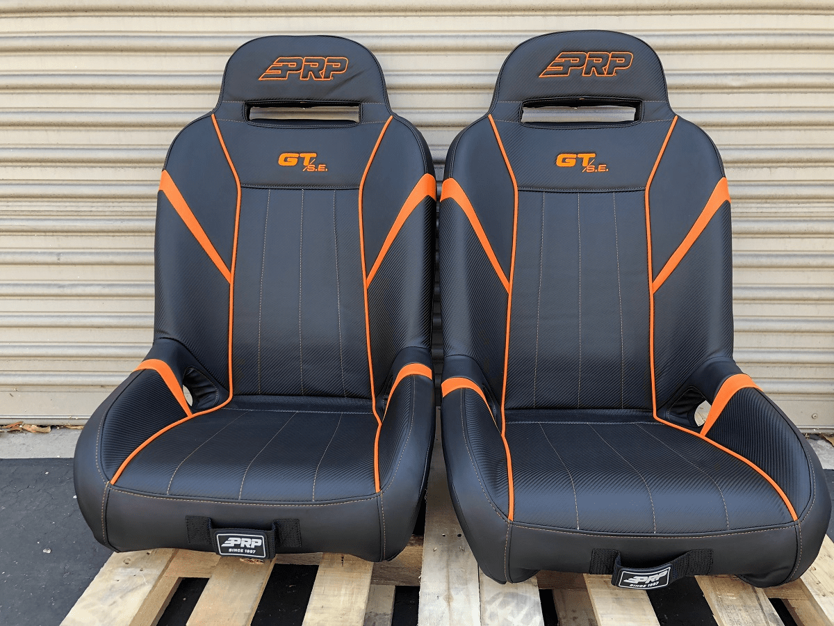 PRP GT S.E. Extra Wide RZR Seats - Orange *SOLD OUT