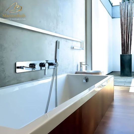 Waterfall Contemporay Tub Filler Polished Chrome