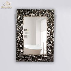Artistic Black and Silver Single High End Mirror