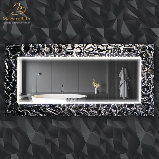 Artistic Black and Silver Double High End Mirror