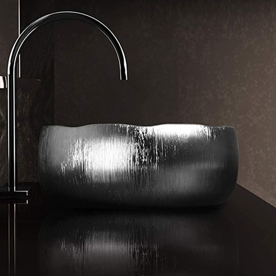 Contemporary Bathroom Vessel Sink | Silver
