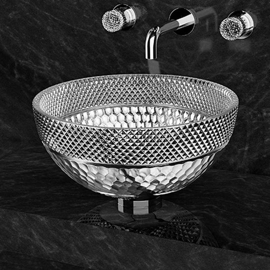 Contemporary Italian Crystal Vessel Sink