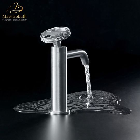 Country Bathroom Faucet | Brushed Chrome