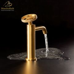 Country Bathroom Faucet | Brushed Gold