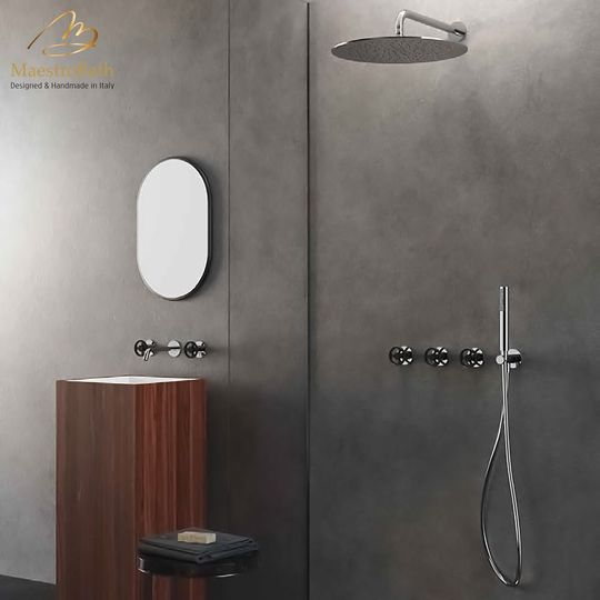 Country Complete Shower Set | Polished Chrome