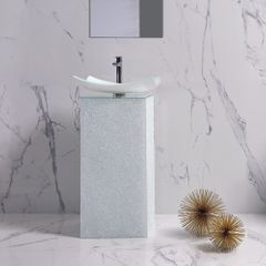 Nook Luxury Crystal White Vanity