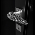 Designer Crystal Door Handle | Chrome