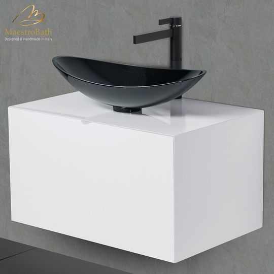 Dora 40 White Lacquered Bathroom Vanity