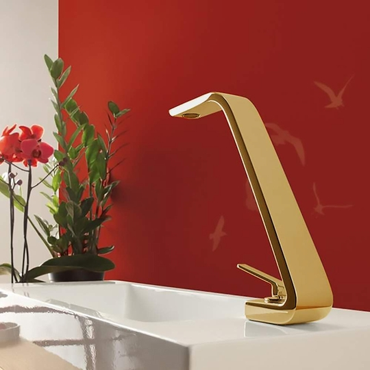 Fancy Italian Bathroom Faucet | Polished Gold