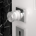 Handmade Crystal Door Knobs | Chrome