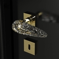 High End Crystal Door Handle | Gold