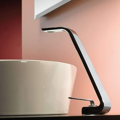 Italian Designer Vessel Sink Faucet | Polished Chrome