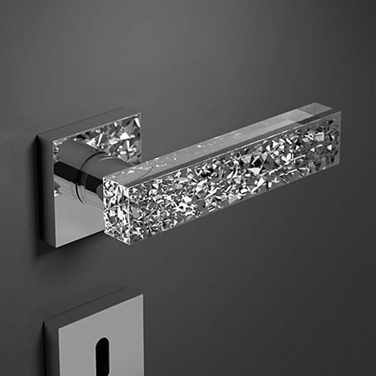 Italian Hand Cut Crystal Door Handles