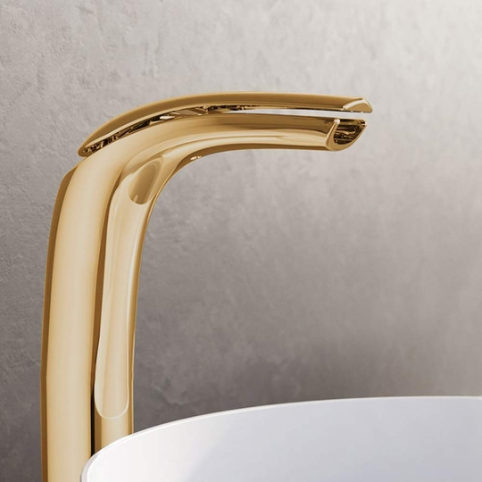 Italian High-end Vessel Sink Faucet | Polished Gold