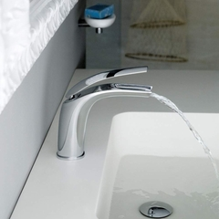Italian Modern Bathroom Faucet | Polished Chrome