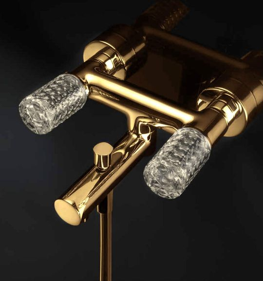Kyros Bath Filler Polished Gold