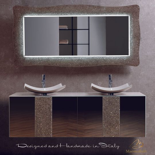 Lucent Luxury Crystal Bronze Double Vanity