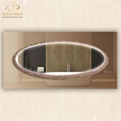 Lucent E Luxury Crystal Double Vanity LED Mirror