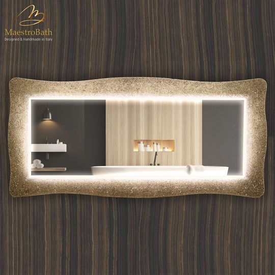 Lucent S Luxury Crystal Double Vanity LED Mirror