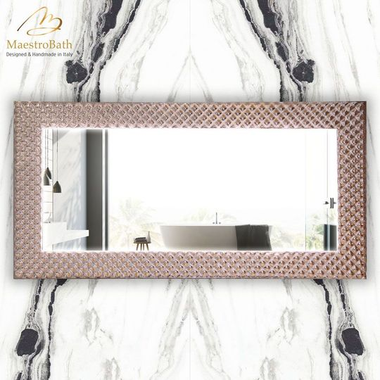 Lucent Luxury Silver Bronze Double Vanity Mirror