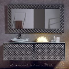 Lucent Luxury Crystal Silver Bronze Double Vanity