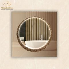 Lucent E Luxury Crystal Single Vanity LED Mirror
