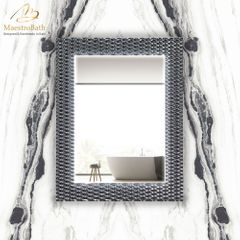 Lucent Luxury Grey-Smoke Silver Single Vanity Mirror