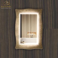 Lucent Luxury Crystal Single Vanity Mirror | Sand