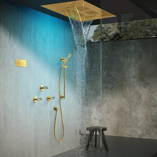 Lux Complete Shower Set Polished Gold