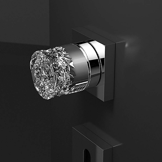Luxury Crystal Door Knob | Chrome