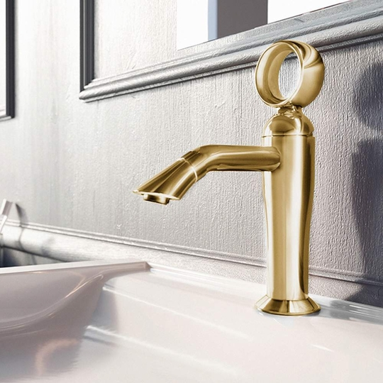 Luxury Italian Bathroom Sink Faucet | Polished Gold