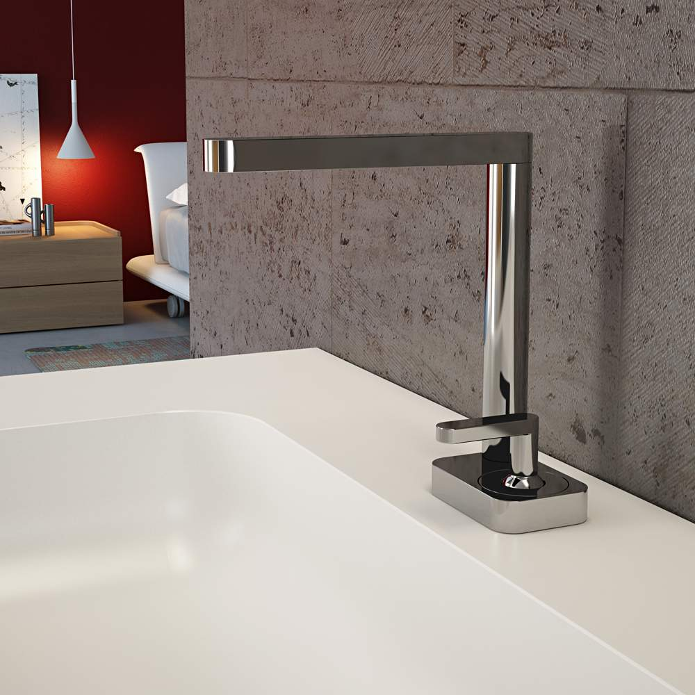. Modern Italian Bathroom Sink Faucet   Polished Chrome