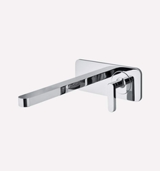 Modern Italian Wall-mount Bathroom Faucet | Polished Chrome