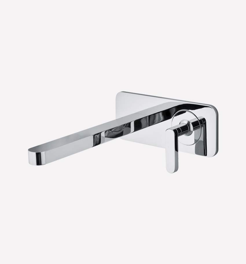 Modern Italian Wall Mount Bathroom Faucet Polished Chrome