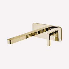 Modern Italian Wall-mount Bathroom Faucet | Polished Gold