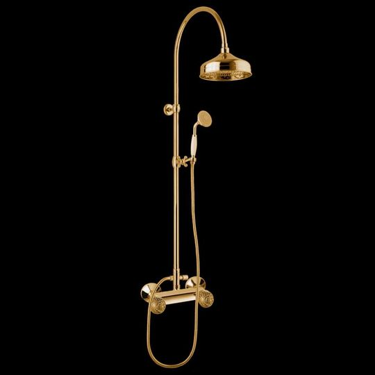 Murano Complete Shower Set Polished Gold