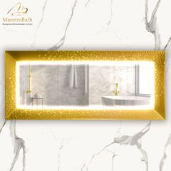Murano Luxury Double Gold Vanity Mirror