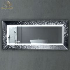 Murano Luxury Double Silver Vanity Mirror