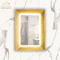 Murano Luxury Single Gold Vanity Mirror