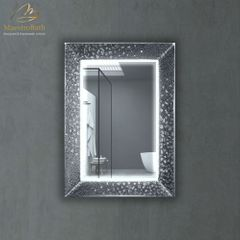 Murano Luxury Single Silver Vanity Mirror
