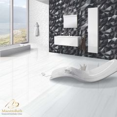 Polygon Luxury Tile | Black