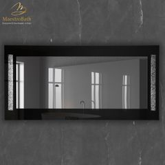 Princess Grey and Silver Luxury Double Vanity Mirror