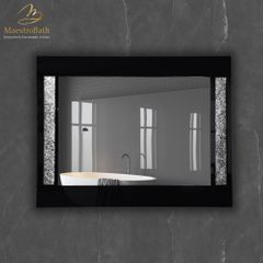 Princess Luxury Grey and Silver Single Vanity Mirror